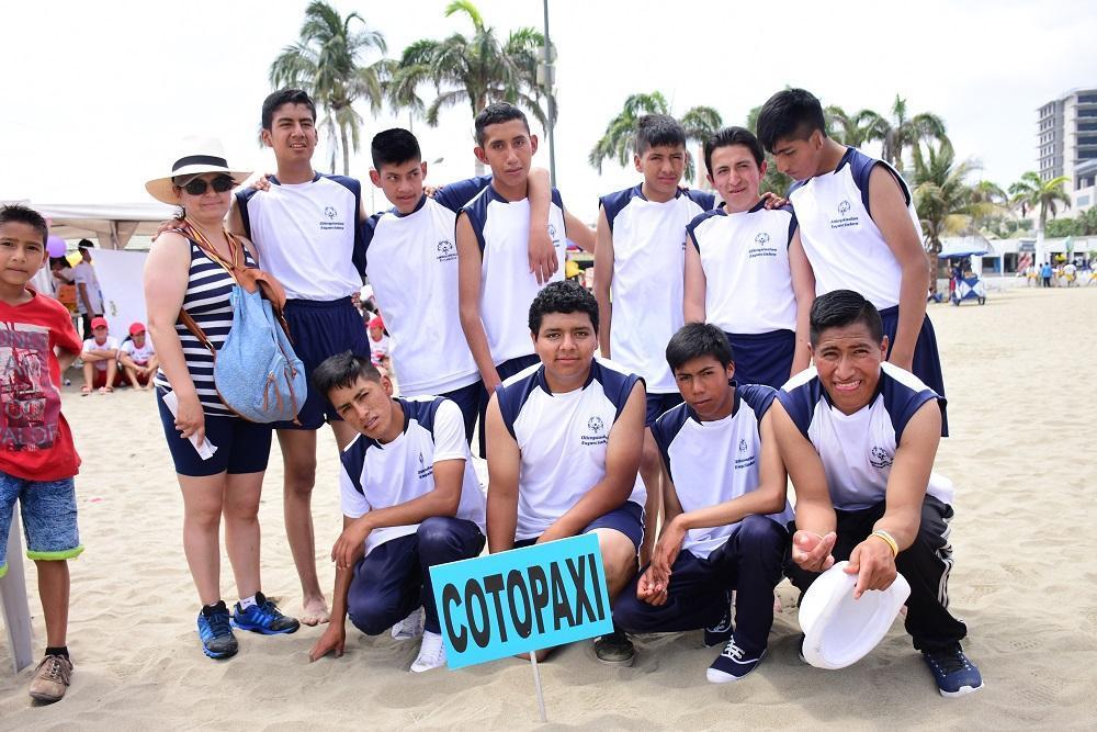 La Selección de Cotopaxi conoció el mar. Es su primera vez en este tipo de competencias