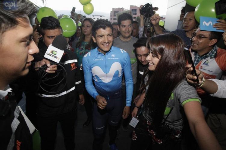 El ciclista Richard Carapaz está en el país tras destacada participación en el Giro de Italia