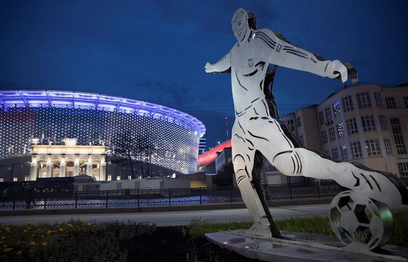 Foto del Estadio Central en Ekaterinburg, Rusia.