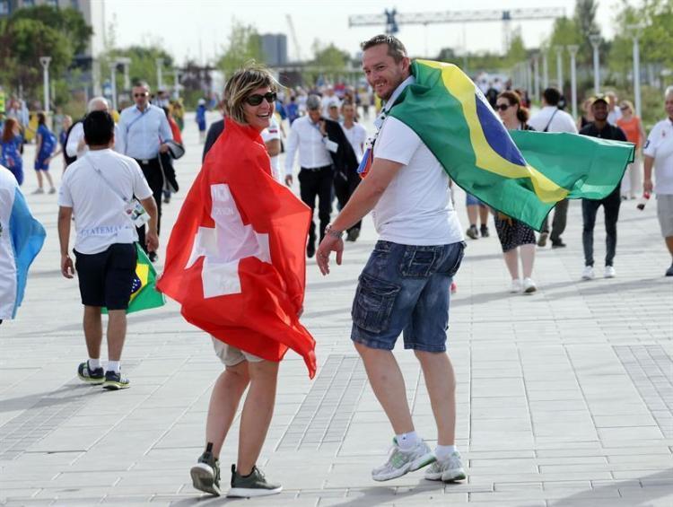 La amistad y los colores amarillo, verde, rojo y blanco predominaron las calles Rostov, Rusia