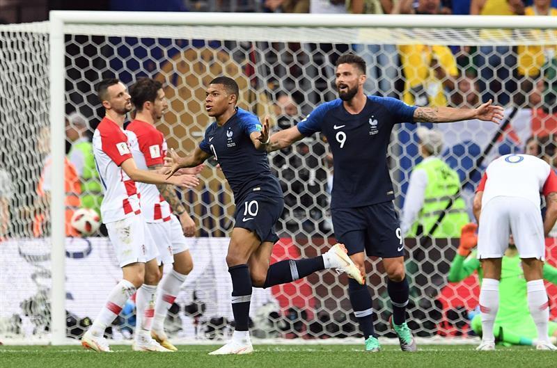 El conjunto de Francia ganó 4-2 en un partido de infarto en la final del Mundial.