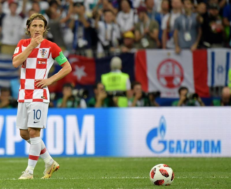 Luka Modri? obtuvo el balón de oro como mejor jugador.