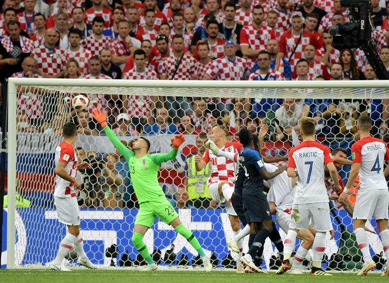 Croacia era un púgil al borde del k.o., a merced del vértigo de los 'bleus'.