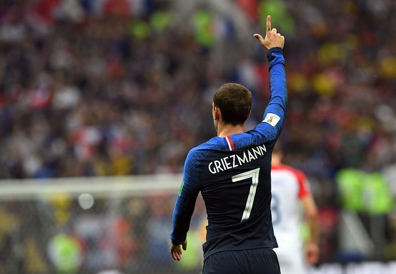 Griezmann formó con el once de gala, el esperado, el campeón.