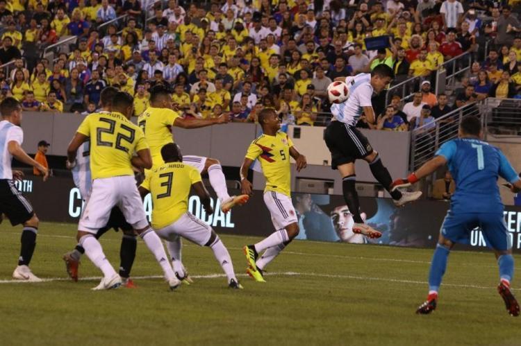 Imágenes del partido amistoso de Argentina vs Colombia