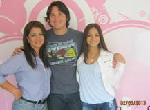Danilo Parra visitando Radio Amiga