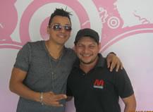 Flex junto a Martín Vásconez en Radio Amiga