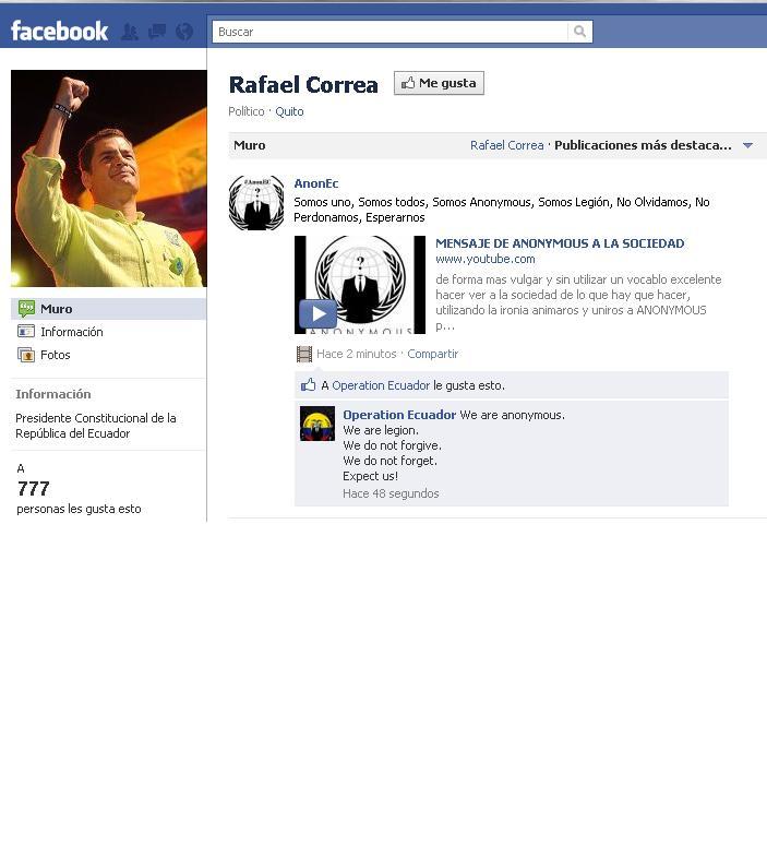 El presidente Correa abre cuentas en Twitter y Facebook