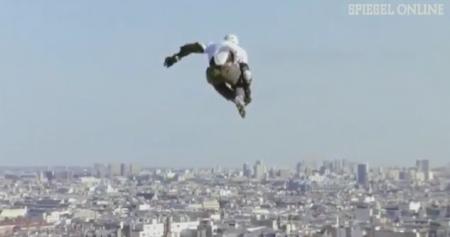 Francés batió el récord mundial de salto con patines