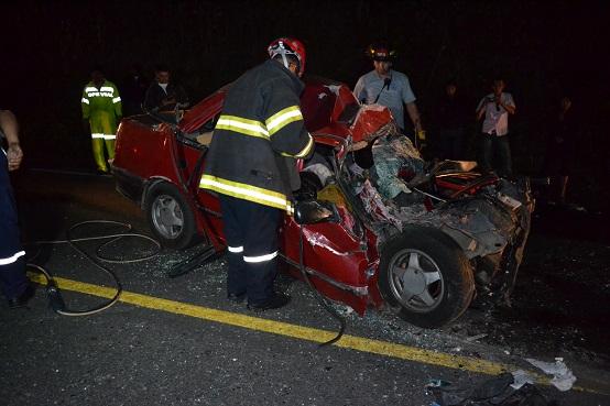 Cuatro muertos en accidente de tránsito