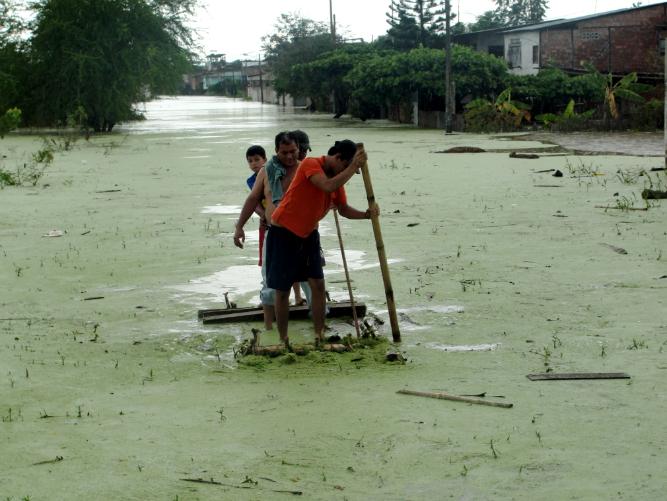 Chone inundado