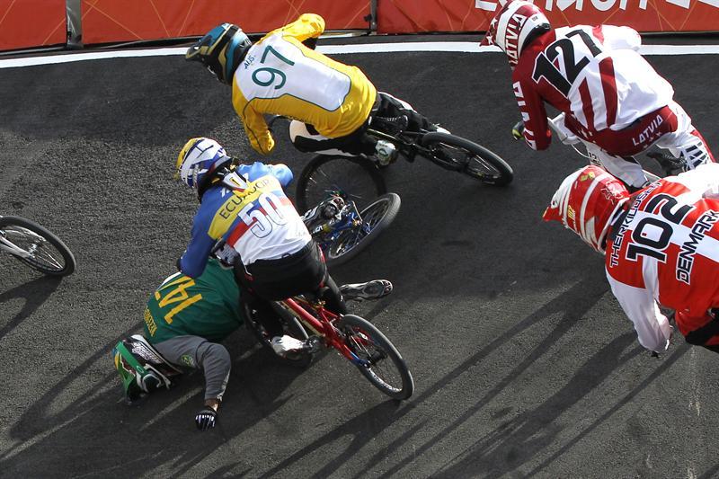 Emilio Falla no pasa a las semifinales de BMX