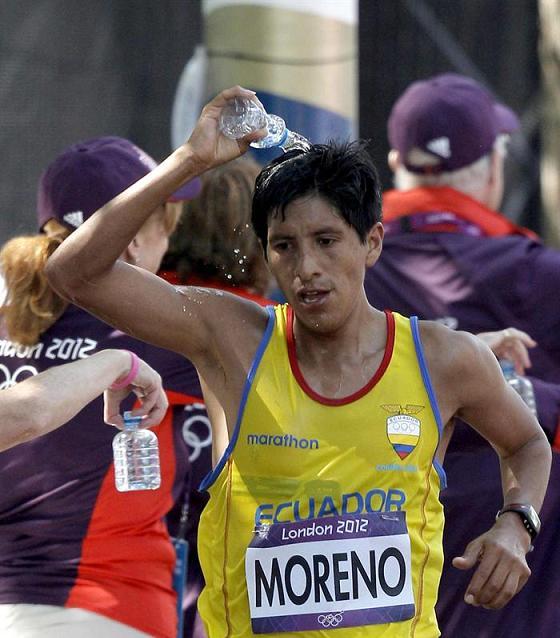 Xavier Moreno en el puesto 47 de los 50 kilómetros de marcha