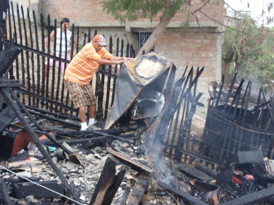 Dos familias quedaron en la indigencia por incendio