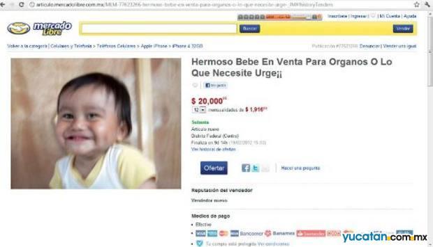 Supuesta venta de un bebé genera polémica
