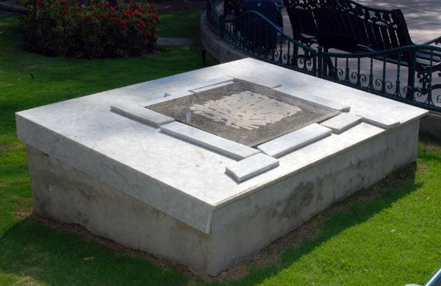 Cofre enterrado en el parque Central cumple 10 años