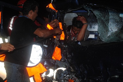 Otro accidente  en la vía a Quito