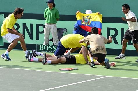 Ecuador gana la serie en la Copa Davis