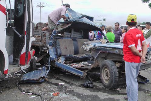 Dos heridos en accidente de tránsito
