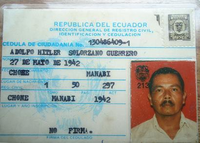 Adolfo Hitler muere abandonado en El Carmen