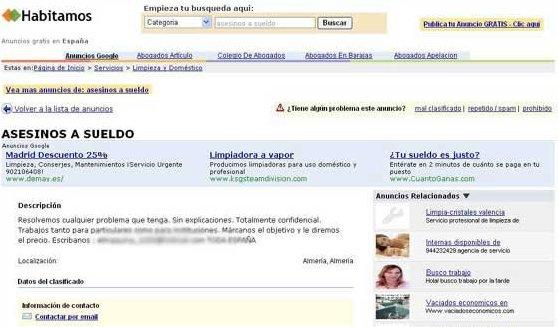 Ecuador se convierte en mercado para sicarios que se ofertan por internet