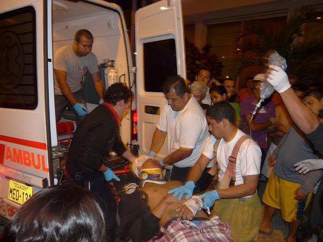 Dos heridos en una balacera fuera de un hotel en Manta