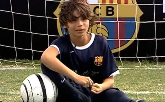 Niño sin pies sueña con ser como Lionel Messi