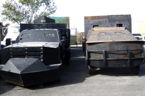 Los 'monstruos' blindados que protegen a los cárteles de droga