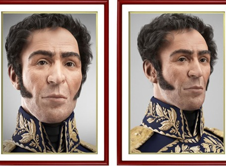 Revelan imagen digitalizada de Simón Bolívar