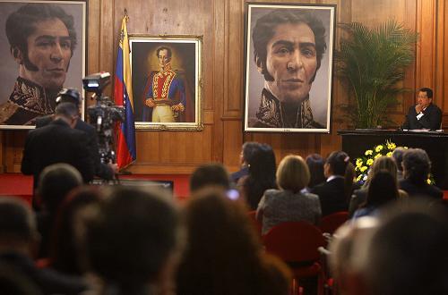 Chávez devela el 'rostro verdadero' de Bolívar