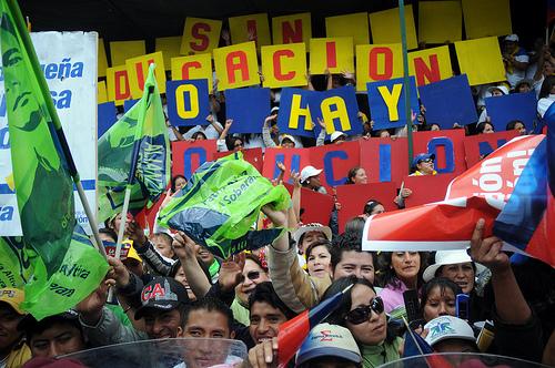 Imágenes de la celebración verde: 5 años de revolución ciudadana