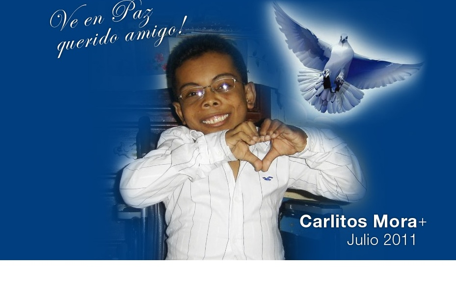 Muere Carlitos Mora, joven infectado con el VIH
