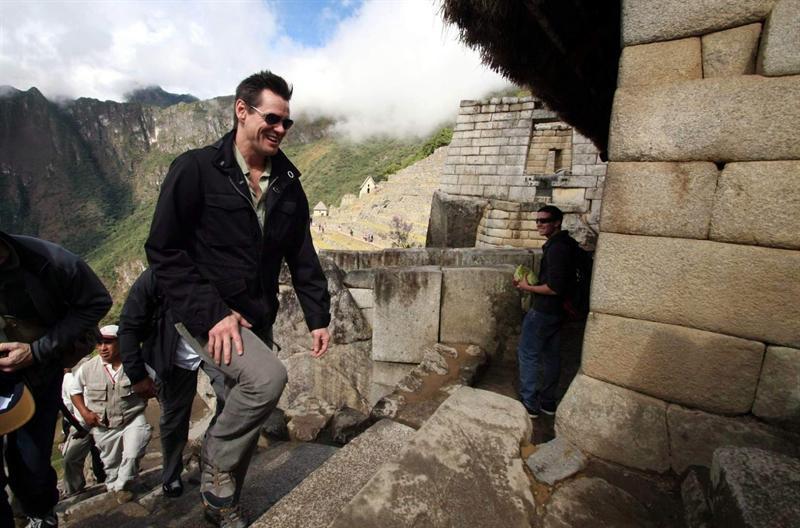 Jim Carrey visitó ruinas incas de Machu Picchu