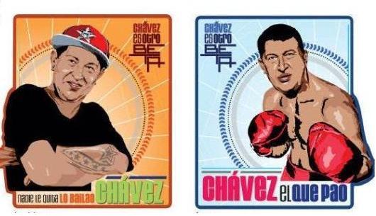 Convierten a Chávez en imagen juvenil de campaña
