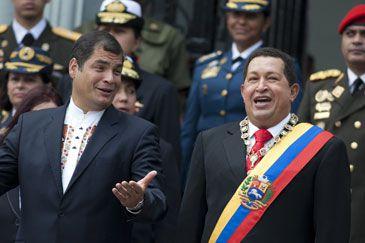 Chávez da la bienvenida a su 'querido hermano' Correa a Twitter