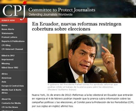 CPJ cuestiona reformas al Código de la Democracia