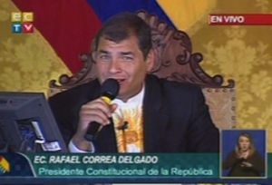 Correa calificó a Santos de 'mentiroso'