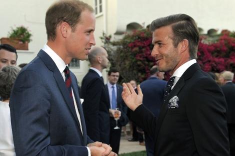 Beckham da la bienvenida a los duques de Cambridge a California