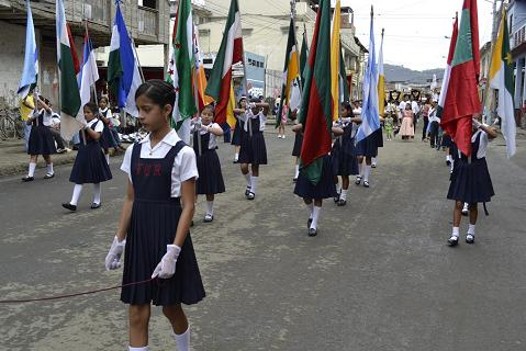 Jipijapa celebró la primera fecha cívica del año