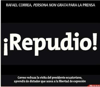 Diario limeño expresa repudio a presidente ecuatoriano en su portada