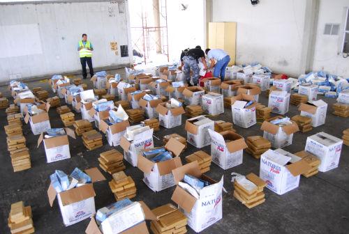 Otro cargamento de droga fue incautado en Manta