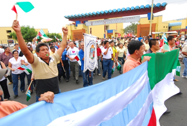 Cobertura de la marcha de Portoviejo
