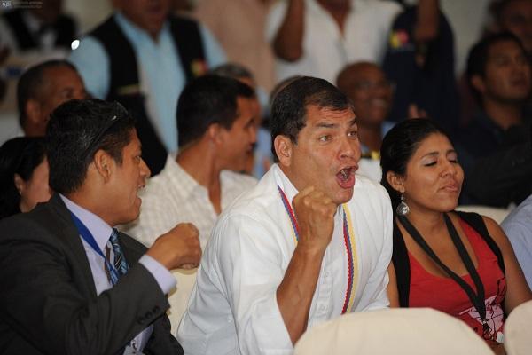 Los paraguayos 'van a soñar con Montero', exclamó Correa