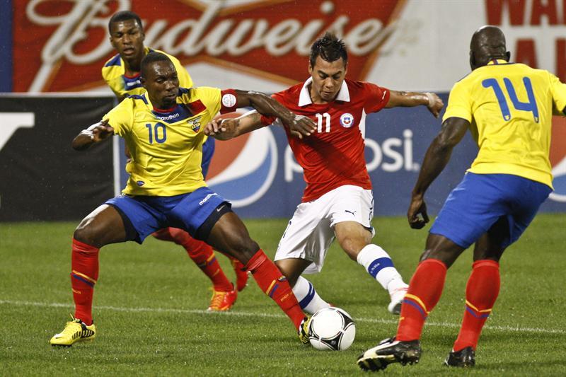 Ecuador ganó 3-0 a Chile en amistoso en Nueva York