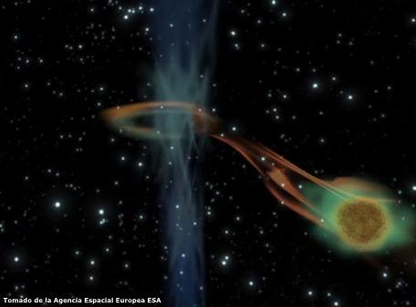 ESA detecta el despertar de un agujero negro