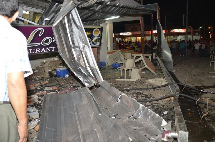 Son cuatro los heridos por explosión en puesto de comidas