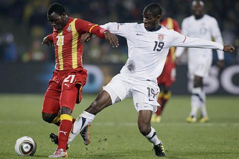 Ghana venció 2-1 a EEUU en la prórroga