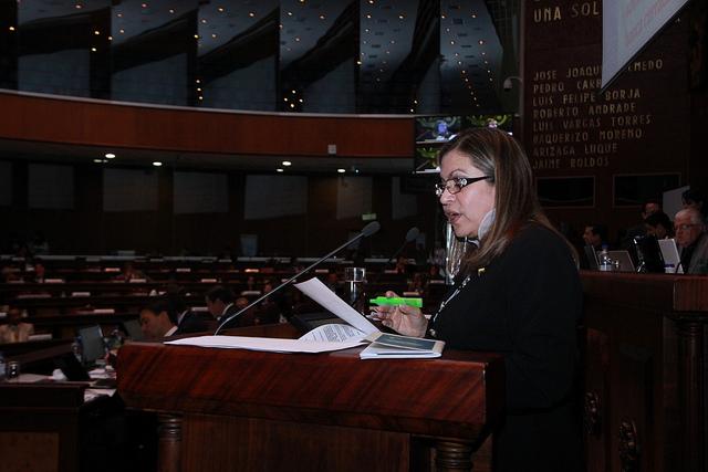 La Asamblea censura a Gloria Sabando