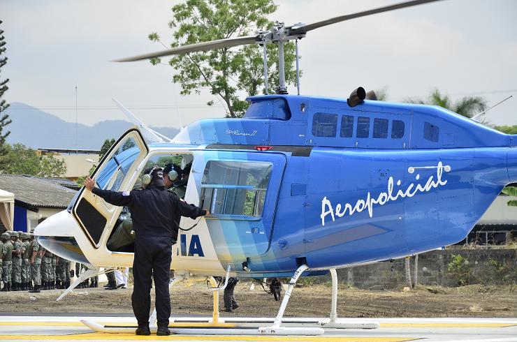 El helicóptero fue entregado dos veces