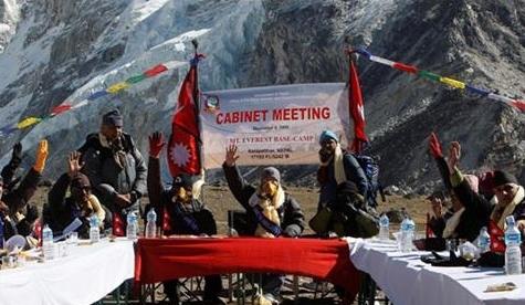 Piden acciones contra el cambio climático desde el Everest